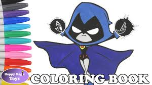 teen titans go raven coloring book pages teen titans go colors of