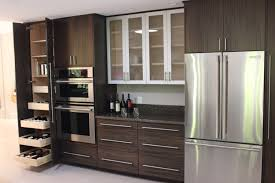 kitchen fridge cabinet awesome design ideas of three d kitchen with brown formica