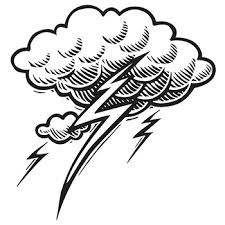 cloud and lightning bolt tattoo pictures to pin on pinterest