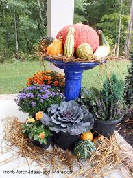Fall Decorated Porches - 12 easy fall decorating ideas for your porch or yard