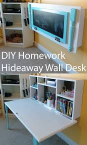 Diy Wall Desk Diy Homework Hideaway Wall Desk The Organized