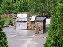 prefabricated kitchen islands kitchen modern outdoor kitchen idea with l shaped brown