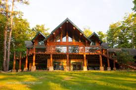 house luxury log home plans natural stone chimney stone pillars