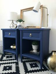 Modern Furniture Diy by Modern Painted Nightstands With Country Chic Paint Thirty Eighth