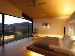 modern bedroom platform bed interior design ideas
