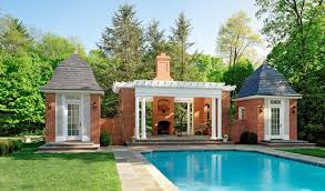 douglas vanderhorn architects french country pool house