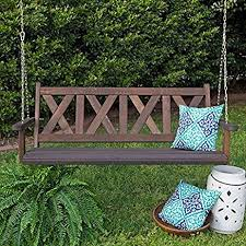 amazon com porchgate amish made haven 5ft red cedar porch swing