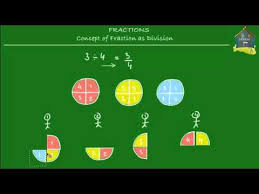singapore math primary 5 concept of fraction as division youtube