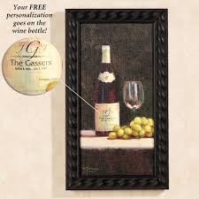 toast of tuscany personalized framed canvas picture art