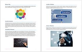 samples business plan templates template free word