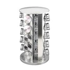 Revolving Spice Rack 20 Jars Adorox Steel Spice Rack Round Or Square Revolving Stainless 20