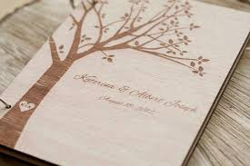 wedding gift book wood wedding guest book wedding guestbook modern custom