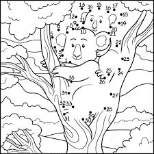 koala mom koala baby dot dot free printable coloring pages
