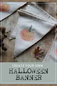 make your own pumpkin banner with this cute halloween craft idea