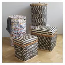 idaho bamboo patterned laundry basket with lid idaho laundry
