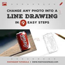 how to change a photo into a pencil line drawing in photoshop