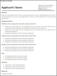 Resume Examples For It Free Resume Templates For Word Free Resume Template Microsoft