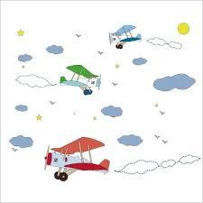 chambre garcon avion sticker avion lili pouce sticker mural chambre enfant et bébé