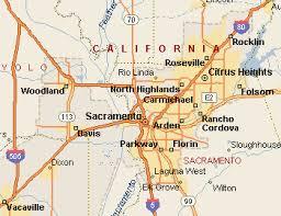map of areas and surrounding areas sacramento map map of sacramento california