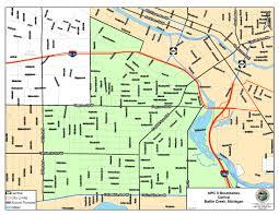 Battle Creek Michigan Map by Neighborhood Planning Councils Battle Creek Mi