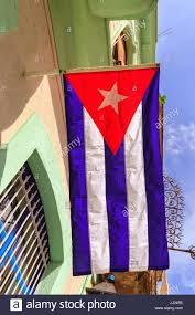 Hanging A Flag Vertically National Flag Of Cuba Cuban Flag Hanging From A House In Havana