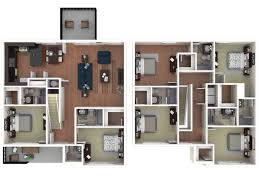 six bedroom floor plans apartments near of arizona tucson the retreat