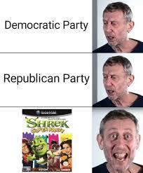 Republican Meme - dopl3r com memes democratic party republican party shrek super