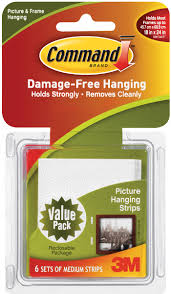 3m command brand damage free hanging picture hanging strips medium 3m command brand damage free hanging picture hanging strips medium 6 pr 6 0 pr walmart com