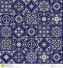 gorgeous seamless pattern moroccan portuguese tiles azulejo