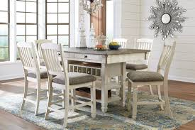 Counter Height Dining Room Set by White And Gray Rectangular Counter Height Dining Room Set