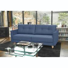 canapé luxe tissu canapé 3 places scandinave convertible coffre tissu bleu bois