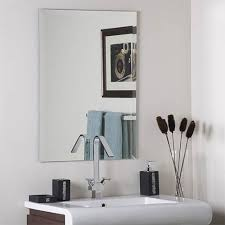 Beveled Mirror Bathroom Frameless Mirrors Bellacor