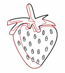 drawing a cartoon strawberry