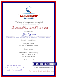 Invitation Cards For Alumni Meet Leadership Brownsville Class Xxxi Celebration Brownsville