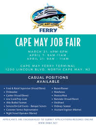 resume for bartender position available flyers work with us cape may lewes ferry