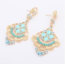 gold jhumka earrings design with price 2017 drop earring designs for girl with light blue gold