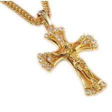 mens christian jewelry 90cm hip hop jewelry rapper cool jesus cross pendents