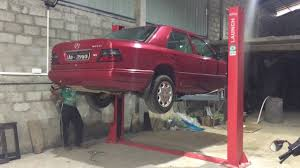 lifted mercedes sedan launch tlt240sb lift up mercedes benz w124 in sri lanka youtube