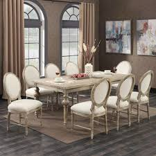 interlude 9 piece dining room set table with 8 side chairs