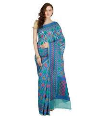 buy banarasi silk works party wear designer sky blue colour saree