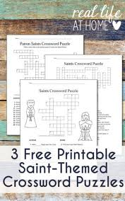 catholic saints crossword puzzle free printables three versions