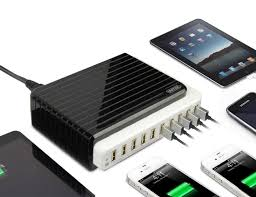 amazon com powerport 105w 2 4a max unitek 10 port fast charger