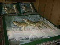Wolf Bedding Set Wolf Bedding Sets White Bed