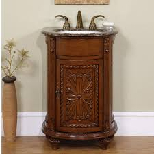 Bathroom Vanity 24 Inch by 24 Inch Small Single Sink Vanity With Granite And Antiqued Finish