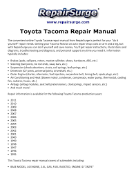 toyota tacoma repair manual 1995 2011 by ryan lung melville issuu
