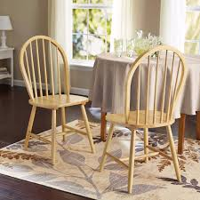windsor chair set of 2 kitchen chairs oak solid wood dining room picture 1 of 2