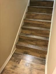 Best Flooring For Stairs Vinyl Tile On Stairs Great Solution Wood Look Vinyl Tile On A