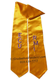 stoles graduation ecu rmi gold graduation stole sashes as low as 5 99 high
