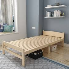 Wooden Folding Bed Wood Folding Bed Single Bed Adult Lunch Bed 1 2 Meters Board