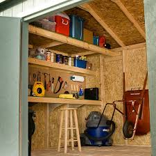 Building Wood Shelves In Shed by 10 Ways To Turn Your Shed Into The Perfect Workshop